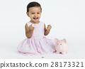 Girl Cheerful Studio Portrait Concept 28173321