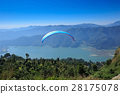 View of a paragliding in the air 28175078