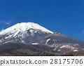 静岡_宝永火口開く富士山 28175706