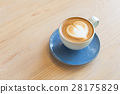 Hot latte with heart latte art 28175829