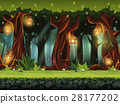 Vector cartoon illustration of the fairy forest 28177202