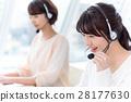 年轻的女士,2人,女商人,运营商 28177630