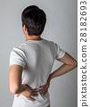 背痛 下背疼痛 後背 28182693