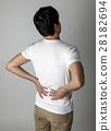 背痛 下背疼痛 後背 28182694