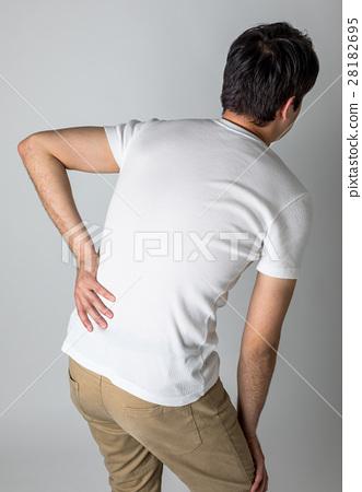 腰痛 背痛 下背疼痛 28182695