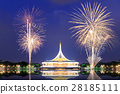 Suan Luang RAMA IX public park with fireworks 28185111