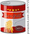 Spaghetti in aluminum can 28187715