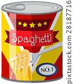 Spaghetti in aluminum can 28187716