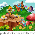 Cute insects living in garden 28187717