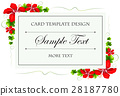 Card template with flowers and leaves 28187780