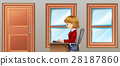 Woman working in room 28187860