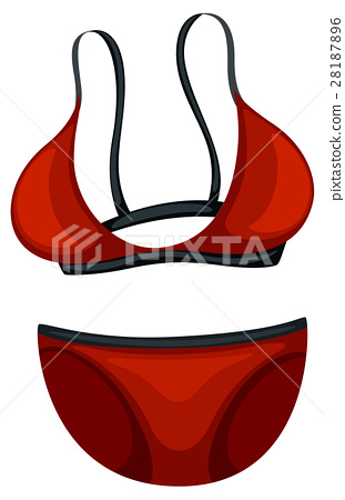 Pair of red bikini 28187896