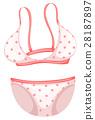 Bikini with pink polka dots 28187897