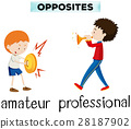 Opposite words for amateur and professional 28187902