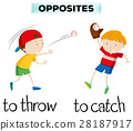 Opposite words with throw and catch 28187917