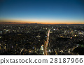 sunset sky building 28187966