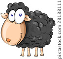 black sheep cartoon isolate on white background 28188111