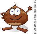 chestnut cartoon isolated on white background 28188115