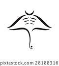 Manta ray abstract strokes composition  28188316
