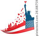 new york city symbol on USA flag 28188759
