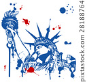 statue of liberty with torch with ink dripping 28188764