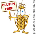 wheat cartoon with signboard 28188766
