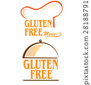 gluten free symbol set 28188791