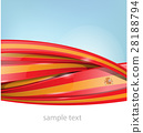 ribbon spain flag on background 28188794