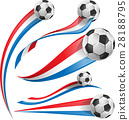france and Netherlands flag set with soccer ball 28188795