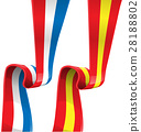 france and spain ribbon flag 28188802