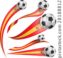 spain  flag set with soccer ball 28188812