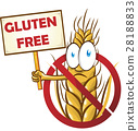 wheat cartoon with signboard  28188833