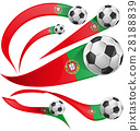Portugal flag set with soccer ball 28188839