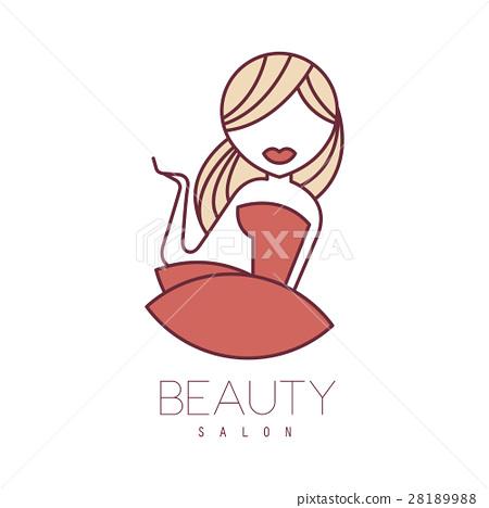 Natural Beauty Salon Hand Drawn Cartoon Outlined Stock Illustration 28189988 Pixta