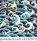 seamless pattern with water waves and splashes 28192973