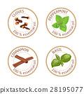 Cloves, peppermint, label 28195077