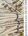 Stack of money in US dollars cash banknotes 28197389