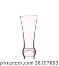 Empty clear drinking glass. Studio shot isolated on white 28197893