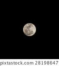 Super full moon over Thailand on November 14, 2016. Isolated on black 28198647