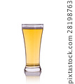 Beer in clear grass. Studio shot isolated on white 28198763