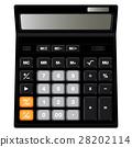 Calculator design isolated on white background. 28202114