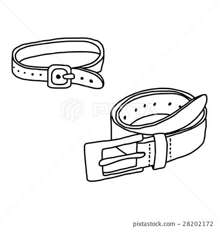 hand drawn sketch of belt  28202172
