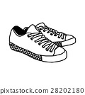 hand drawn sketch of sneakers isolated  28202180