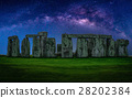 Landscape image of Milky way galaxy at night sky 28202384