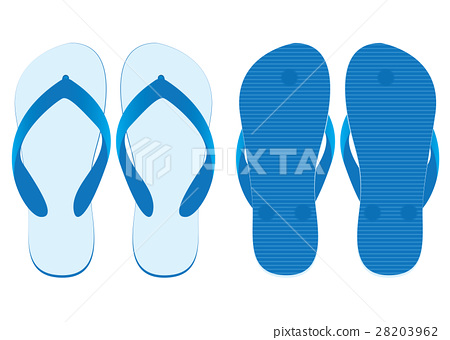 Slippers set of front view and back view. 28203962