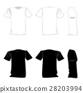 T-shirt template design set. 28203994