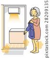 탈의실, 할머니, 따뜻하다 28209135