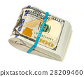 Stack of money in US dollars cash banknotes 28209460