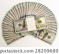 Stack of money in US dollars cash banknotes 28209689