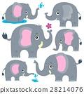 大象 程式化 矢量 28214076